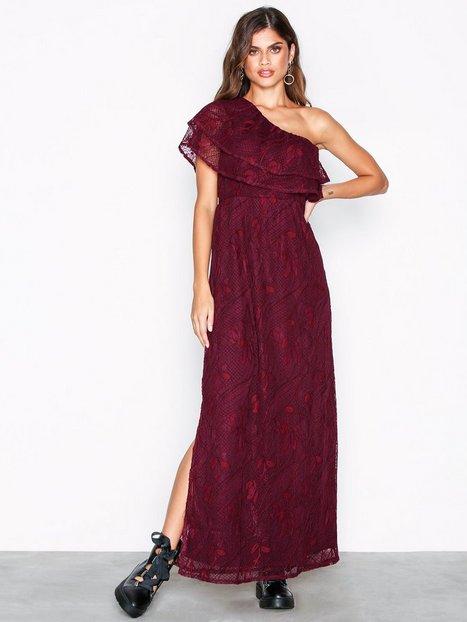 Vipoulina One Shoulder Dress - Vila - Dunkellila - Kleider ...