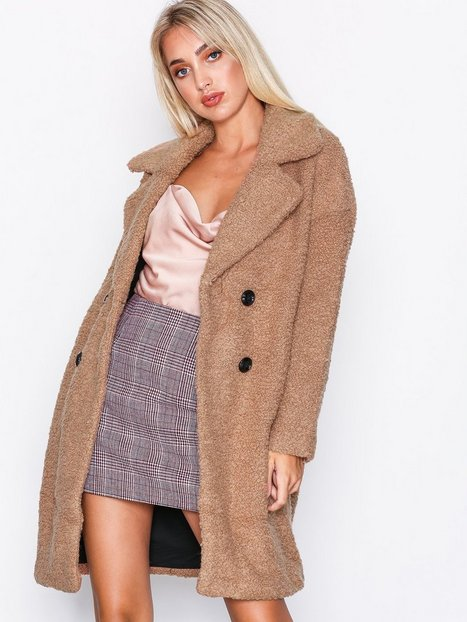 Only onlPALOMA Boucle Long Wool Coat Otw Blazere Lys Brun