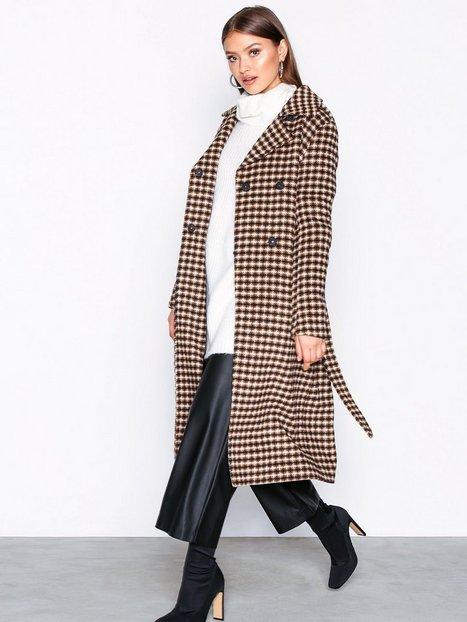 Selected Femme Slftjekka Wool Coat B Frakker Lys Grå