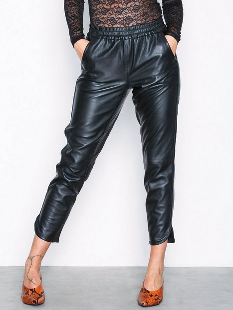 Billede af Vero Moda Vmamber Nw Leather Pant Bukser Sort