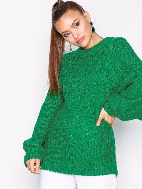 Vila Viblissfull L/S Knit Top Stickade tröjor Mörk Grön - Vila