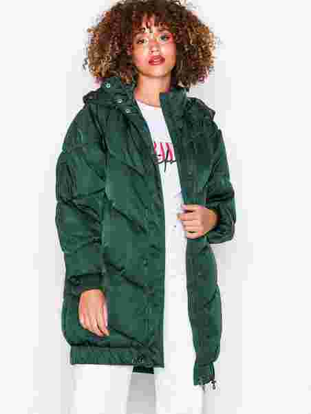 7e2d7452396 Nmanja L/S Long Jacket 5 - Noisy May - Dark Green - Jackets ...
