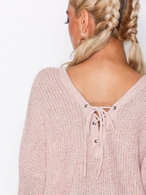 onlPEYTON L/S LACE UP PULLOVER KNT