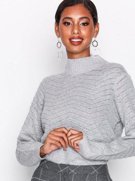 Billede af Y.A.S Yasbeatrice Knit Pullover Strikkede trøjer Lys Grå