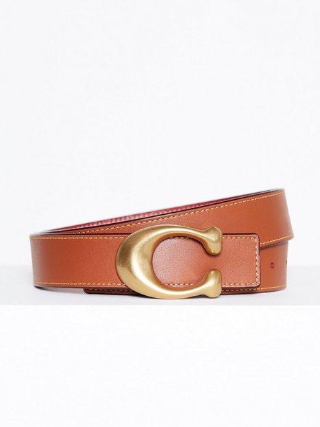 Billede af Coach 32mm Sculpted C Reversible Belt Bælter & Bindebånd Rød