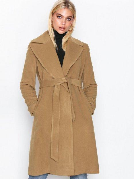 Lauren Ralph Lauren Solid Wl Wrp-Coat Frakker Medium Beige