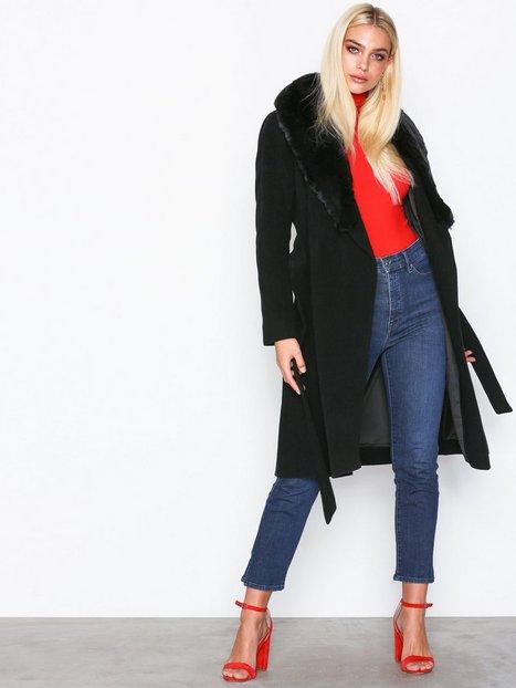Lauren Ralph Lauren F Col Wl Wrp-Coat Frakker Black