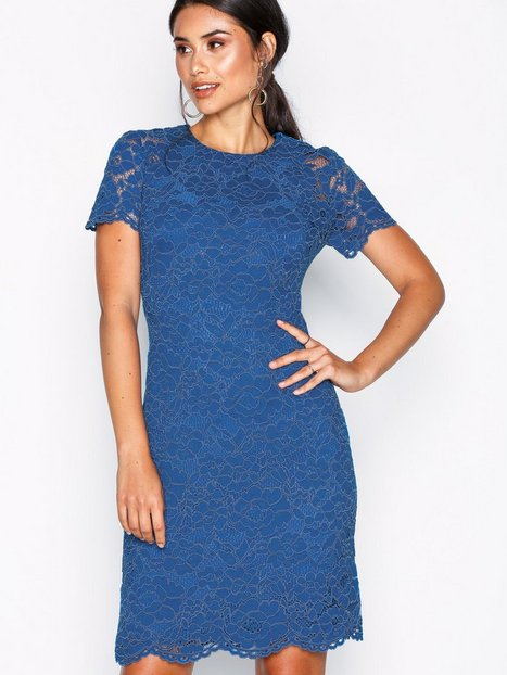 Lauren Ralph Lauren Blondie-Short Sleeve-Day Dress Kropsnære kjoler Blue