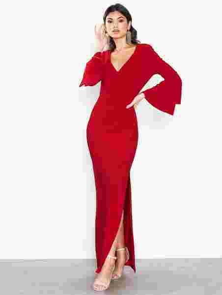 5bb123762a Ashlynara - 3 4 Sleeve - Evening Dress - Lauren Ralph Lauren - Red ...
