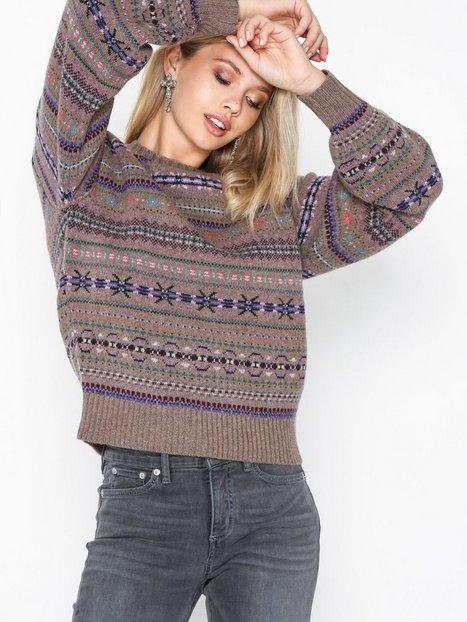 Polo Ralph Lauren Ls Cn Po-Long Sleeve-Sweater Strikkede trøjer Brown