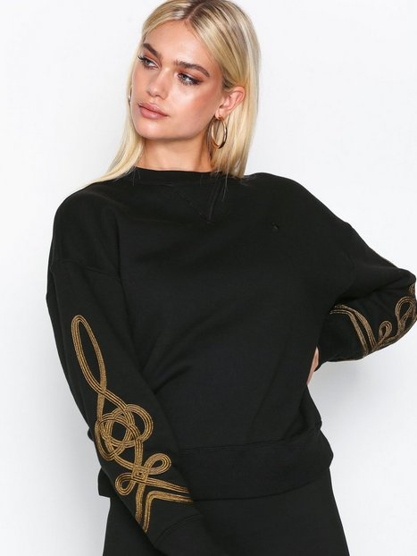 Polo Ralph Lauren Ls Cn W Sout-Long Sleeve-Knit Sweatshirts Black