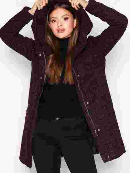 15bcaad2536 Shoppa Jdydemea Hood Boucle Jacket Otw - Online Hos Nelly.com