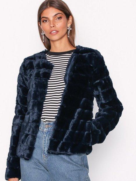 Billede af Vero Moda Vmavenue Faux Fur Short Jacket Boos Faux Fur Mørkeblå