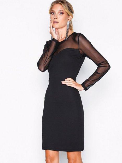 Vero Moda Vmmilla L/S Mesh Short Dress Exp Fodralklänningar - Vero Moda