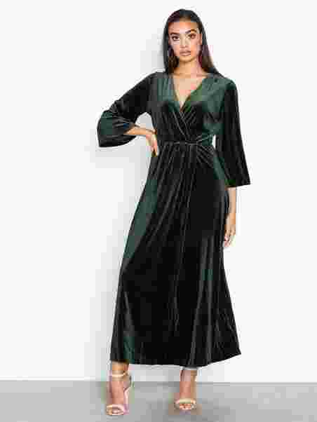 Yasbalea 3 4 Ancle Dress - Y.A.S - Tummanvihreä - Mekot - Vaatteet ... 893ba2665b