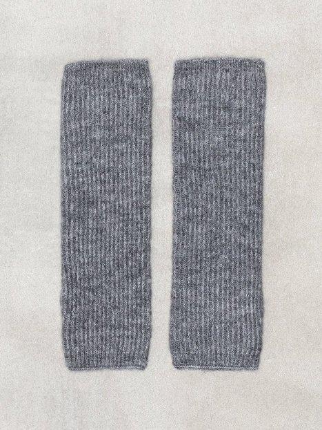 Billede af Pieces Pcfluffy Fingerless Wool Gloves Vanter og handsker Grå