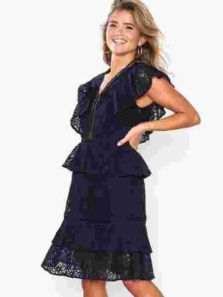 48f61301a12ca Yasmaida Lace Dress - Da - Y.A.S - Dark Blue - Dresses - Clothing ...