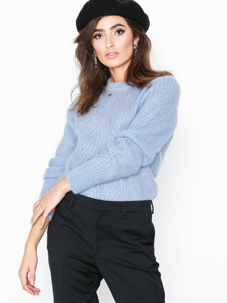 Filippa K Soft Mohair R-Neck Sky