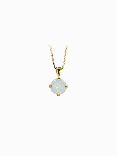 Billede af Caroline Svedbom Classic Petite Necklace Gold Halskæder Hvid