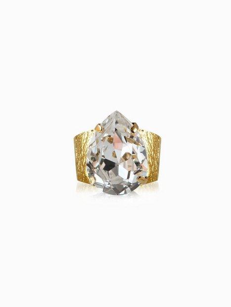 Billede af Caroline Svedbom Classic drop ring Ringe Crystal