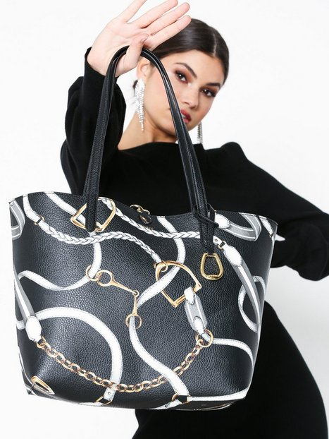 Lauren Ralph Lauren Rvrsble Tote-Tote-Medium Håndtaske Black