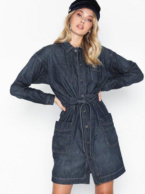 Polo Ralph Lauren Dnm Ww Dr-Long Sleeve-Casual Dress Skater kjoler Marine