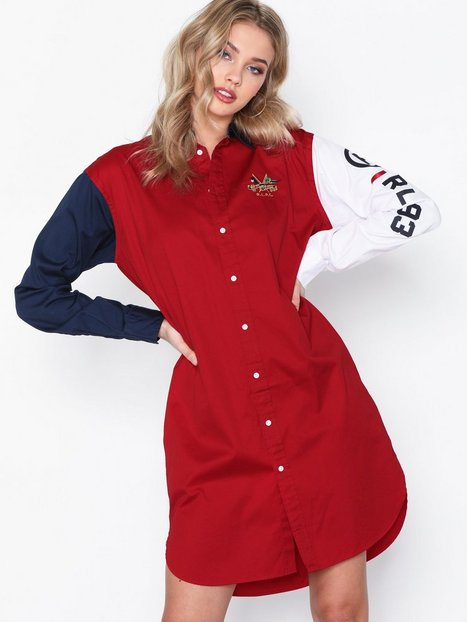 Billede af Polo Ralph Lauren Ls Blke Dr-Long Sleeve-Casual Dress Loose fit dresses Red
