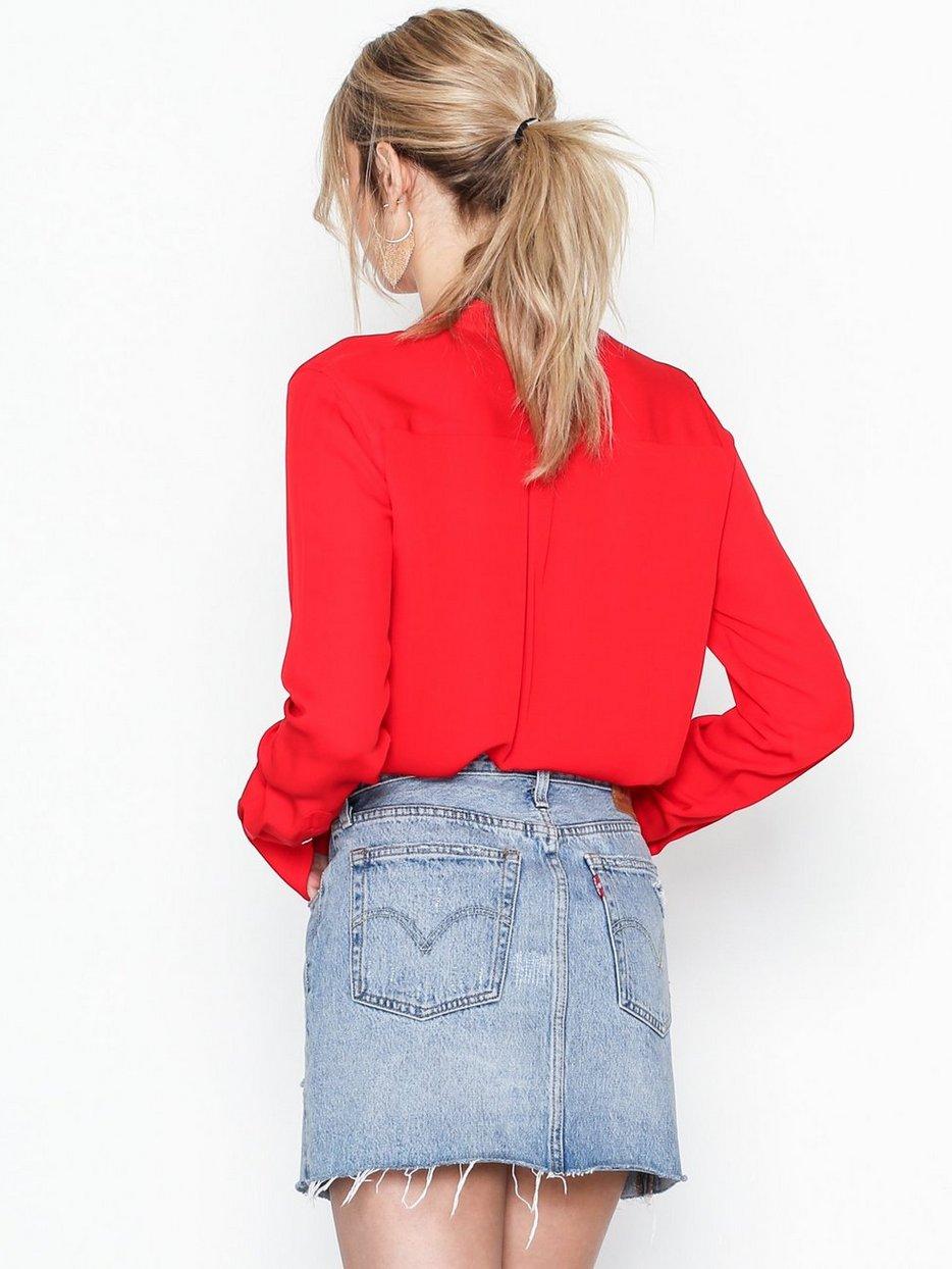 cdf3de67a3a Ls Desra St - Long Sleeve - Shirt - Polo Ralph Lauren - Red - Blouses    Shirts - Clothing - Women - Nelly.com Uk