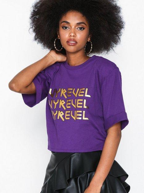 Billede af Ivyrevel Cropped Ivy Tshirt Oversized Purple