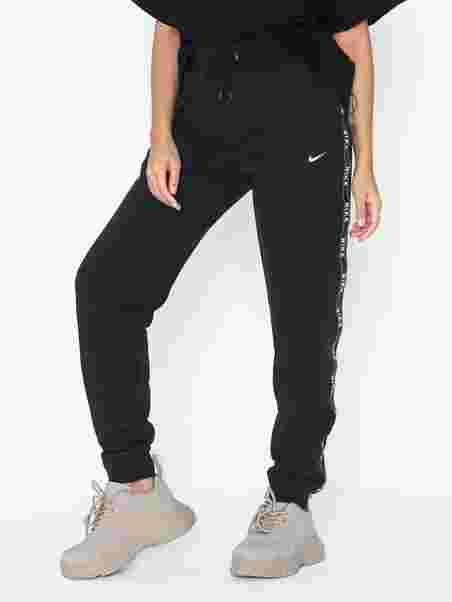 ad051c1ebf3 W Nsw Pant Logo Tape - Nike - Zwart/Wit - Broeken & Shorts - Kleding ...