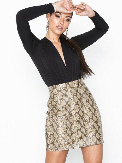 Noisy May Nmallan Snake Nw Pu Skirt X Minikjolar - Noisy May
