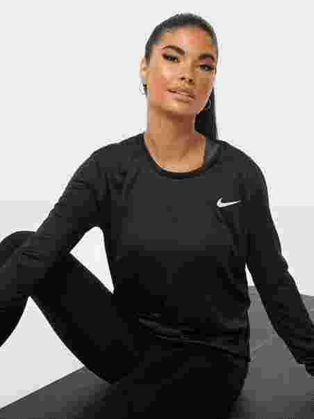 fe5bc23a W Nk Miler Top Ls - Nike - Svart - Singleter & Topper - Sportsklær ...