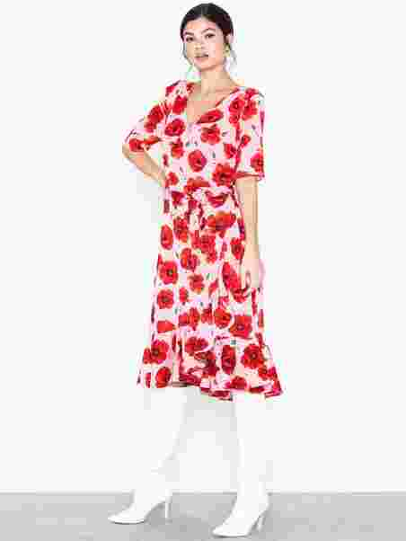71ad5e724bed Jdyindie 2 4 Wrap Dress Wvn - Jacqueline De Yong - Lys Rosa - Kjoler ...