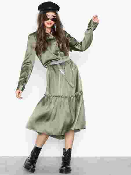 c145b7fe425a Objalina L S Long Dress A Bfsd - Object Collectors Item - Grøn ...