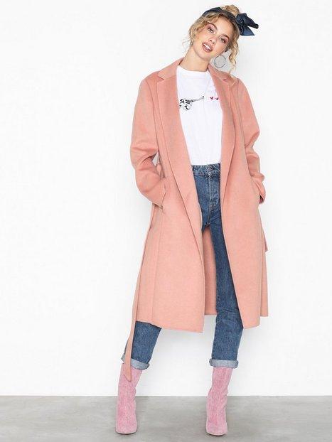 Lauren Ralph Lauren Df Wool Wrap-Wool-Coat Frakker Primrose