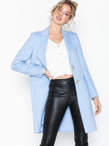 Lauren Ralph Lauren 2 but Df Wl-Wool-Coat Frakker Blå