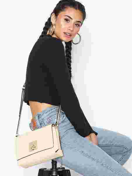 a1951115b2b Ck Lock Med Flap Crossbody - Calvin Klein - Light Sand - Bags ...