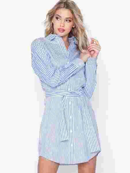 6b250264ded1db Stripe Mix Shirt Dres - Michael Michael Kors - White - Dresses ...