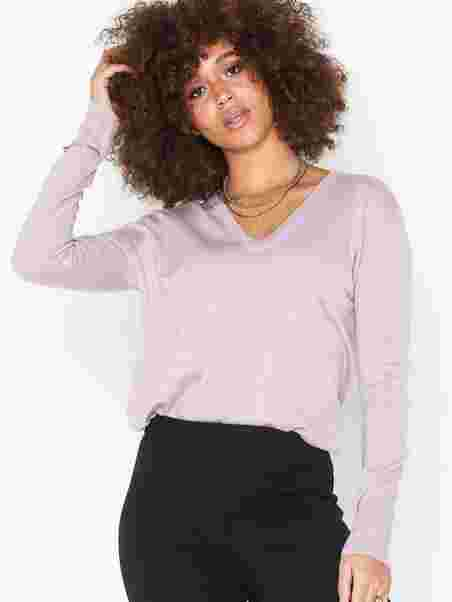 Filippa K Damen Pullover Silk Mix V-Neck Sweater