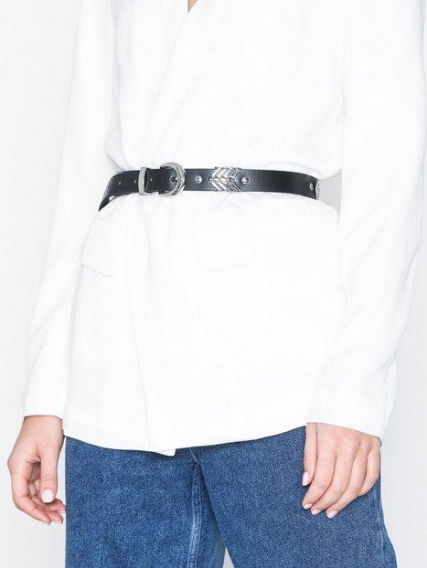 Pieces Pcbliss Leather Jeans Belt Bälten & Skärp