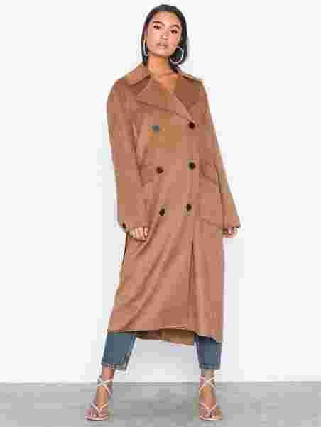 cc09e36e3af69 Slfhilde Handmade Coat B - Selected Femme - Brown - Jackets ...