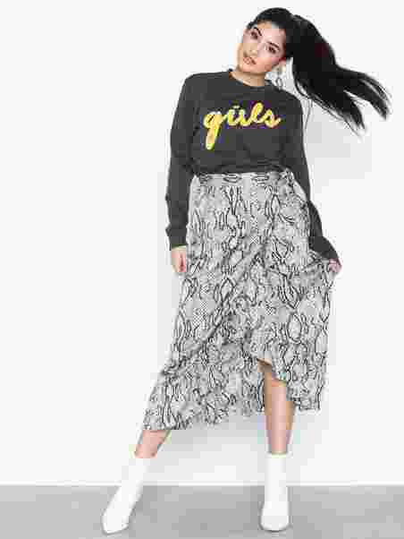 23b1d5631ee3 Shoppa Onlmalou Wrap Skirt Wvn - Online Hos Nelly.com