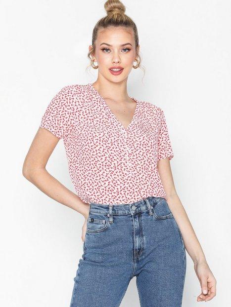 Billede af Calvin Klein Jeans V Neck Drapey Ss Top Oversized