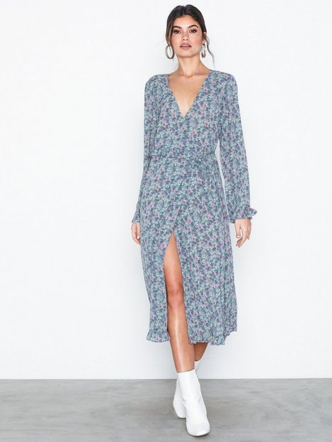 Vila Viflowerbed L/S Wrap Dress