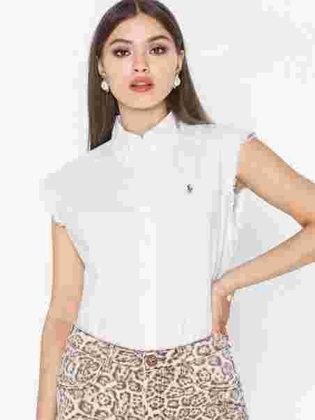 9ea065232e946 Sl Mns St - Sleeveless - Shirt - Polo Ralph Lauren - White - Blouses ...