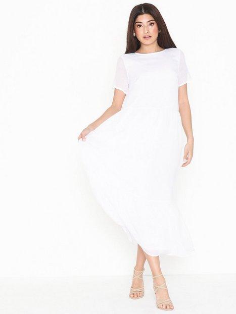 Billede af Pieces Pccasandra Ss Midi Dress Loose fit dresses