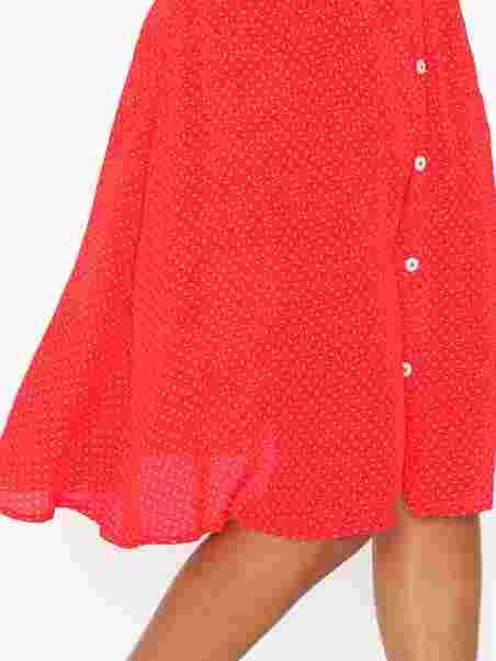 0121bbe8447 Objlemon Mw Midi Skirt 102 - Object Collectors Item - Rød ...