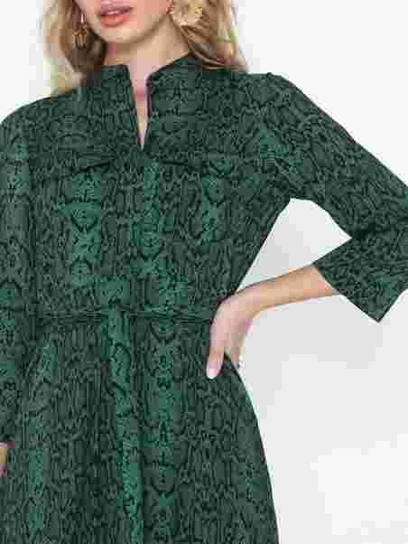84cdb37748a9 Yaspytho 3 4 Sleeve Dress D2d - Y.A.S - Dark Green - Dresses ...