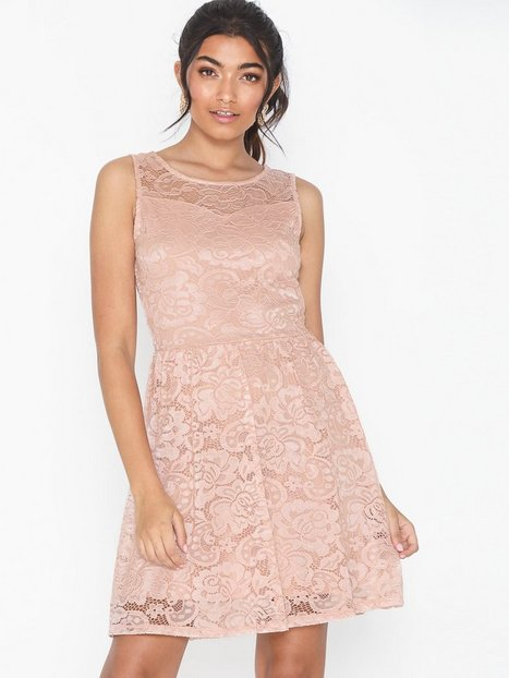 Only Onldicte Lace S/L Dress Jrs Noos Festklänningar