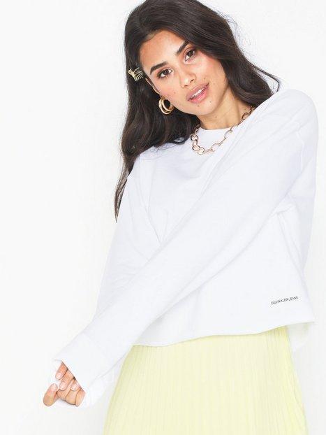 Calvin Klein Jeans Raw Hem Crew Neck Sweatshirts